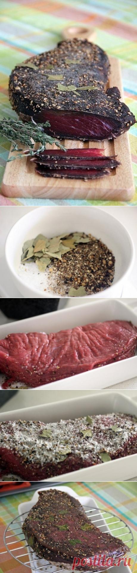 Как приготовить домашнее вяленое мясо. - рецепт, ингридиенты и фотографии