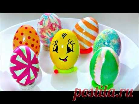 7 способов оригинально и просто покрасить яйца на Пасху