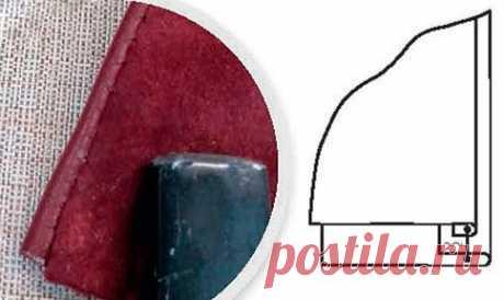 Способы обработки краев и отделки кожаных деталей  В прошлой статье были рассмотрены основные правила работы с кожей и соединительные швы, сегодня речь пойдет о способах обработки краев и отделки кожаных деталей и изделий.  Обтачные швы  Обтачной шов в кант  Сложить детали лицевыми сторонами внутрь и обтачать срезы швом шириной 0,5-1 см. Подрезать один из припусков до 0,2-0,3 см, промазать припуски клеем, выправить обтачанный край с кантом (0,1-0,3 см) из основной (внеш...