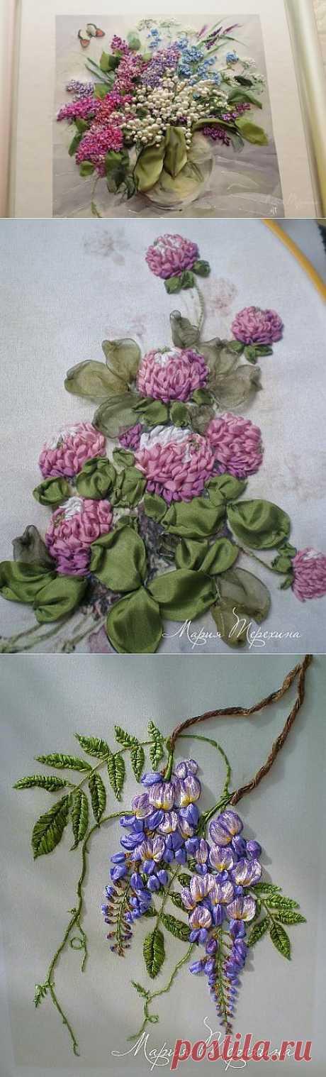 Мария Терехина, вышивка лентами.