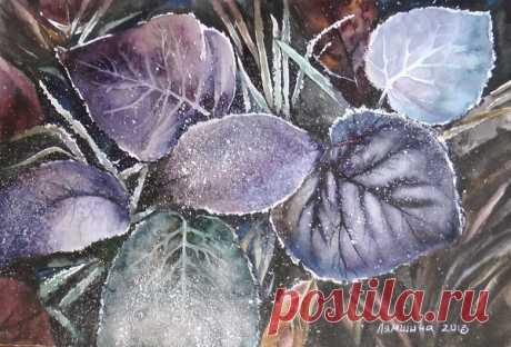Используем соль в акварельной живописи | Творчество и искусство | Яндекс Дзен