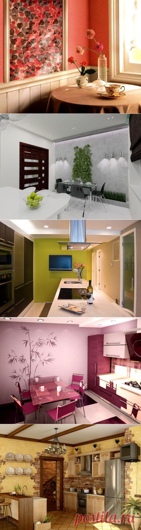 Идеи оформления стены в кухне — Мой дом