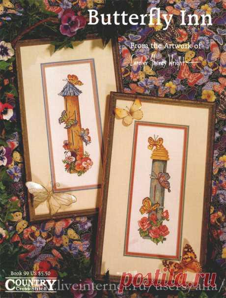Вышивка крестом, схемы Бабочки и цветы, 2сс панно Butterfly Inn