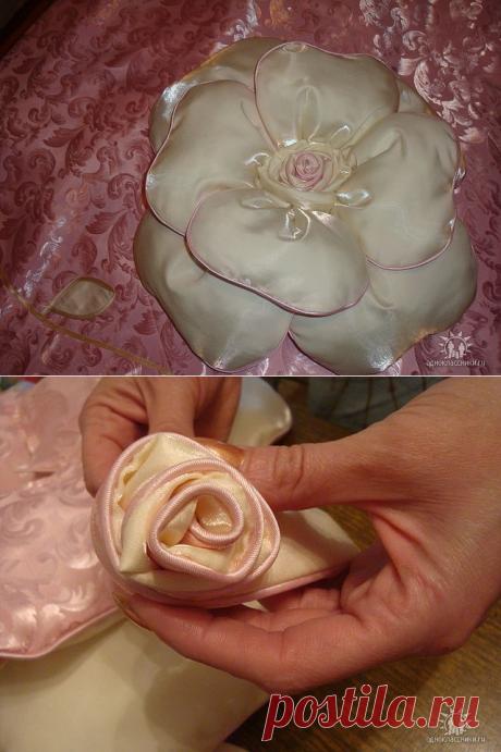 Подушка-роза. МК