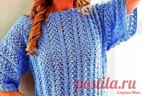 Пуловеры крючком 246