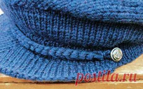 Knitted cap and gloves for men | Damskiye Palchiki. ru
