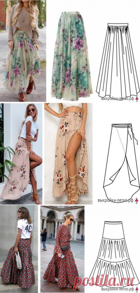 Шьем простые, но эффектные летние юбки.