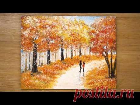 Пара гуляет вместе / Техника росписи ватных тампонов # 432