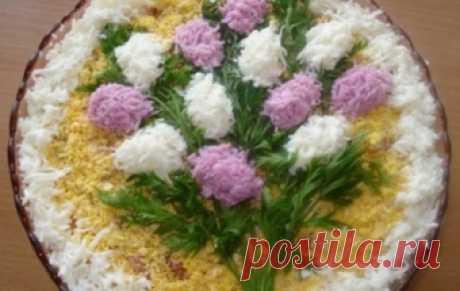 """Салат """"Ветка сирени"""" / Рыбные салаты / TVCook: пошаговые рецепты с фото"""