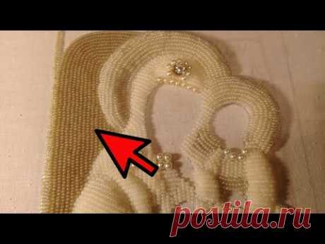 Вышивка вприкреп. Подробно показываю, как вышивать вприкреп бисером.