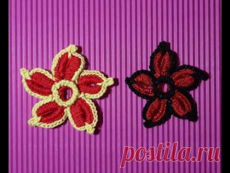 МК Маленький цветок Ирландское кружево. Little flower Irish lace.