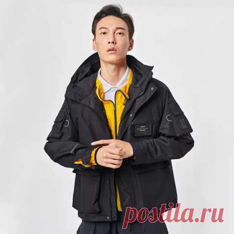[from xiaomi youpin] pelliot men warm jacket waterproof ski windproof rain jacket full season climbing trekking outdoor sports coats Sale - Banggood.com