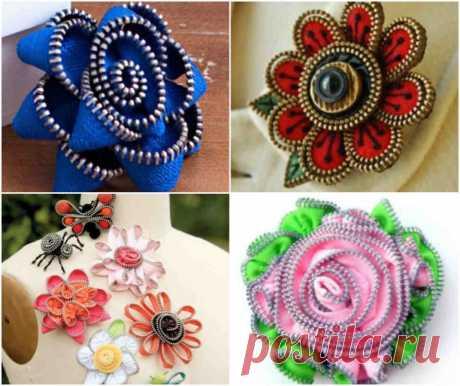 Великолепные цветы из молнии: мастер-класс — Сделай сам, идеи для творчества - DIY Ideas