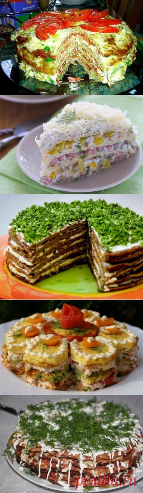Топ-5 рецептов закусочных тортов | Четыре вкуса