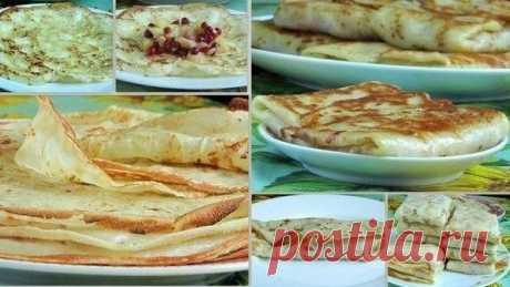 Супер тонкие блинчики | Самые вкусные кулинарные рецепты