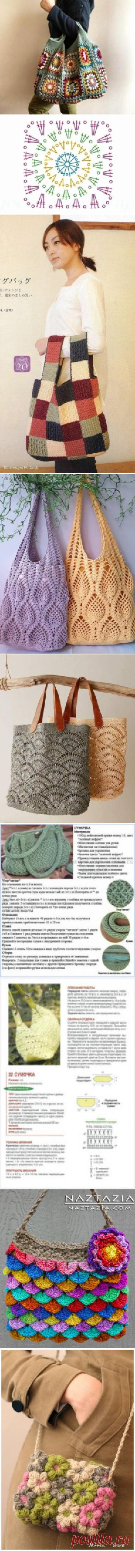 Вязаные сумки | Lukashina Galina | Идеи и фотоинструкции бесплатно на Постиле