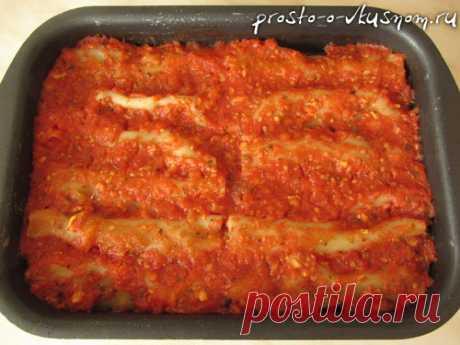 Элегантные макароны с фаршем или канеллони с мясной начинкой