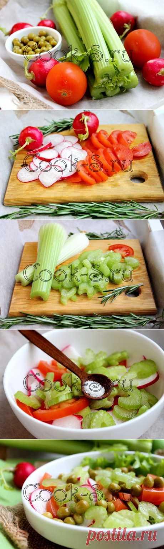 Салат из стеблей сельдерея - Пошаговый рецепт с фото | Салаты