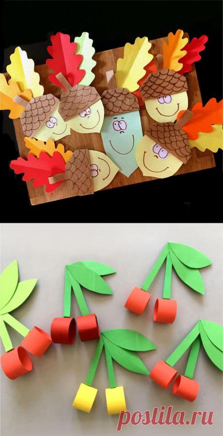 Поделки из бумаги для детей 4-6 лет. 25 поделок со схемами.
