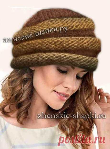 Описание шапки 2017 женские шапки спицами