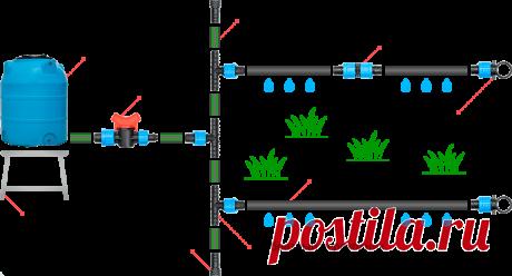 Капля. Уникальная система капельного полива
