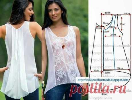Шьем красивые блузки: 10 выкроек на любой вкус