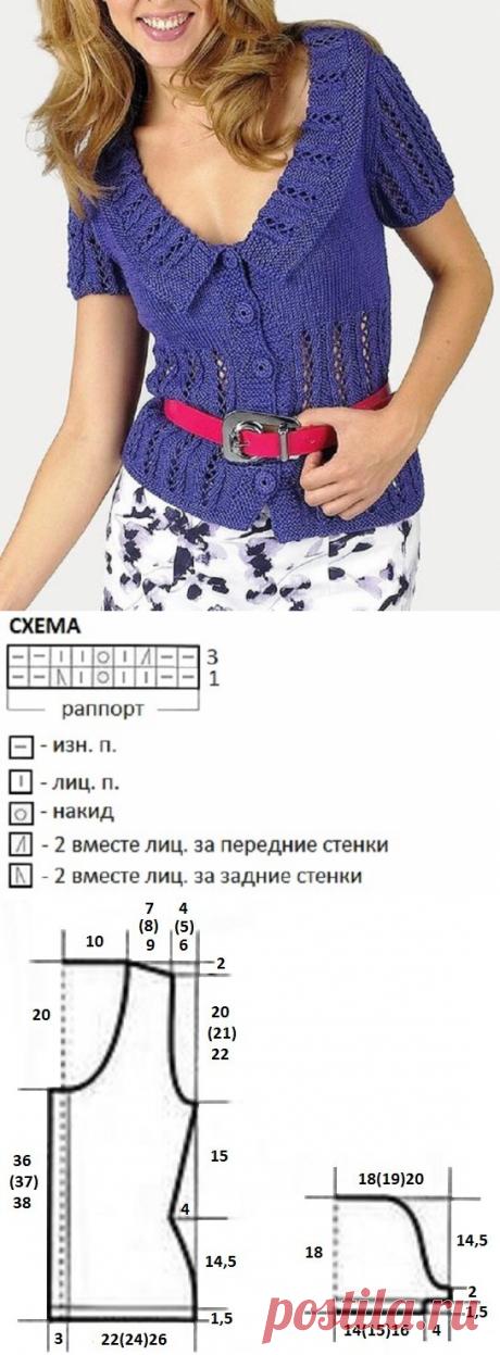 Элегантный летний жакет, связанный спицами | Идеи рукоделия | Яндекс Дзен