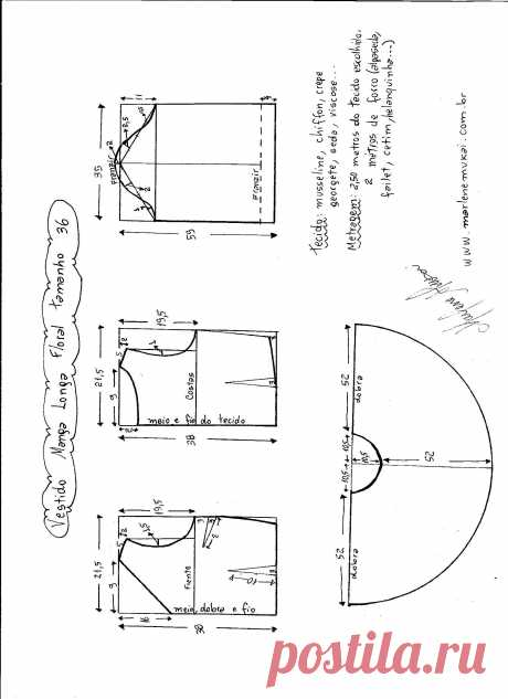Платье с V образным вырезом и расклешенной юбкой. Размеры от 36 - 56