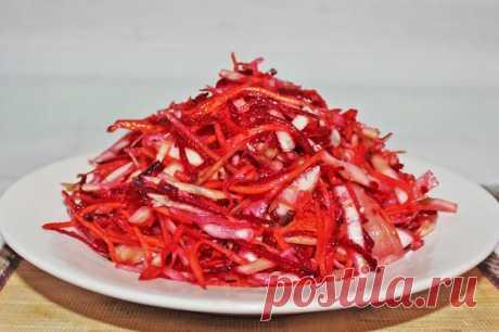 Салат Щетка на скорую руку рецепт с фото пошагово - 1000.menu