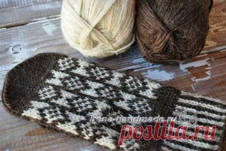 Варежки с жаккардом «Околица» (вязание, схемы и фото) - Irena Handmade