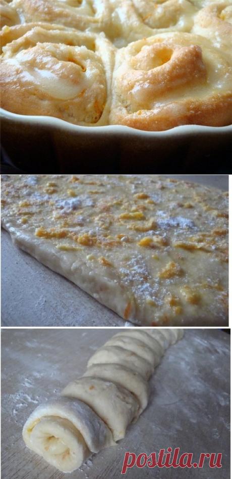 Как приготовить ароматно-воздушные апельсиновые булочки - рецепт, ингридиенты и фотографии