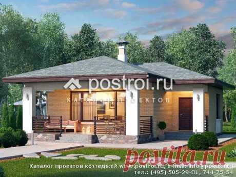 T-070-1P проект одноэтажного дома из пеноблока размером 9 на 11 и площадью 71 м2