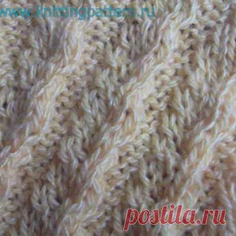 How to knit braids spokes Diagonal waves