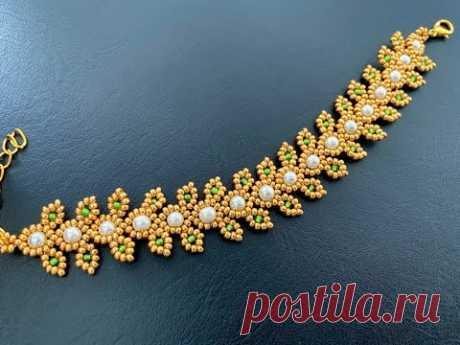Golden Girl Bracelet || DIY Beaded Bracelet || Dainty vine bracelet
