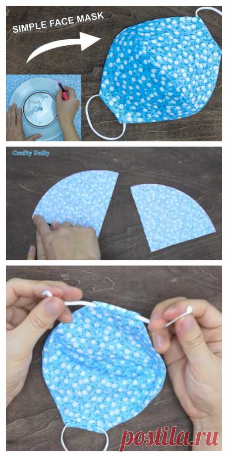 DIY Fabric Face Mask Using Plate + Video | Fabric Art DIY