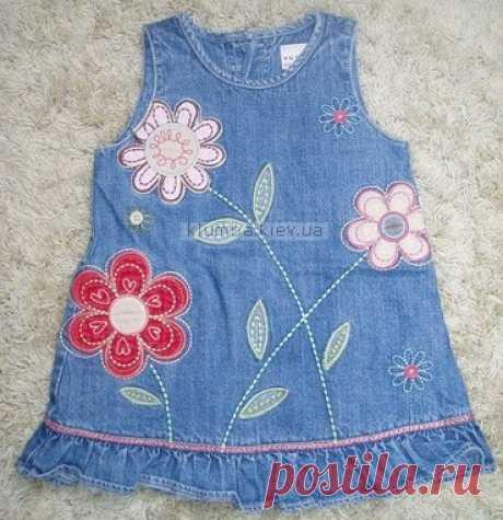Текстильные фантазии и не только: Джинсовые сарафанчики для маленьких девочек