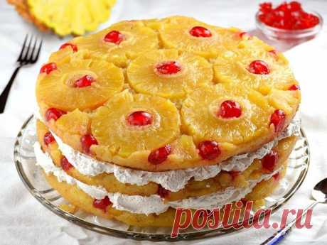 Торт ананасовый рецепт с фото