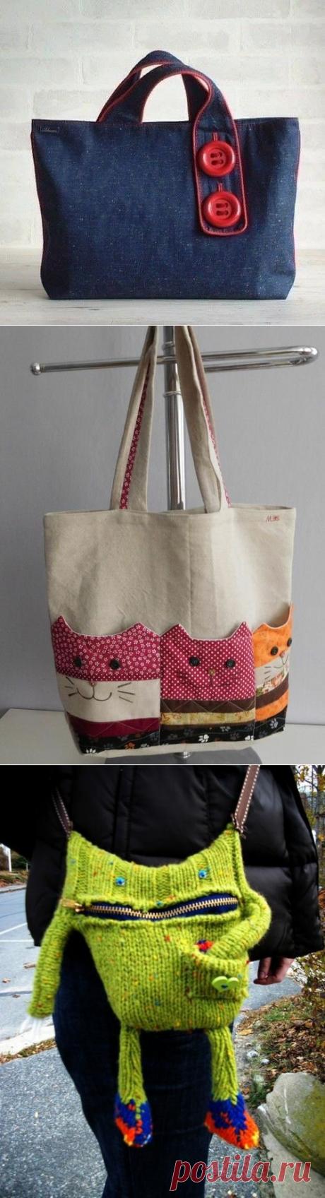 Необычные идеи handmade сумок.   Handmade для всех   Яндекс Дзен