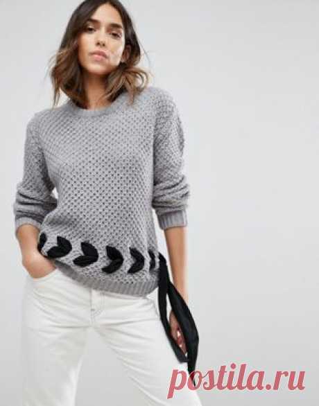 Джемпер крупной вязки со шнуровкой ASOS