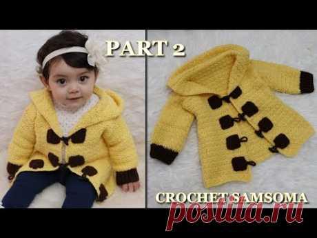 كروشيه معطف بغرزة سهلة للمبتدئات /  جاكيت كروشية الجزء 2/ Crochet coat / Crochet Jacket for any size