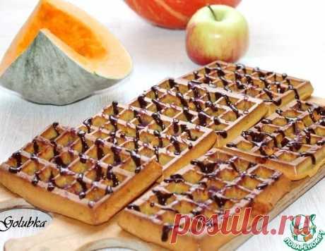 Пряные тыквенно-яблочные вафли с шоколадом – кулинарный рецепт