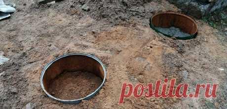 Дополнительный фундамент из бочек под пристройку к бане | Хозяйство Воронова | Яндекс Дзен