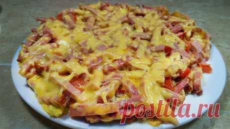 Картофельная пицца на сковороде за 10 минут. | Ольга Лунгу | Яндекс Дзен