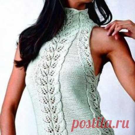АЖУРНЫЙ ЖАКЕТ (Вязание спицами) | Журнал Вдохновение Рукодельницы