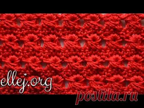 ♦ Узор из вытянутых петель крючком • Перуанское вязание • Брумстик без линейки • ellej
