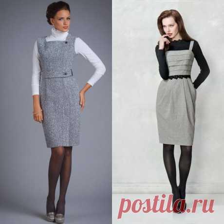 Женские теплые сарафаны | Модные платья