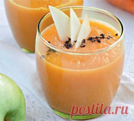 Морковный суп-пюре с яблоками, суп. Пошаговый рецепт с фото на Gastronom.ru