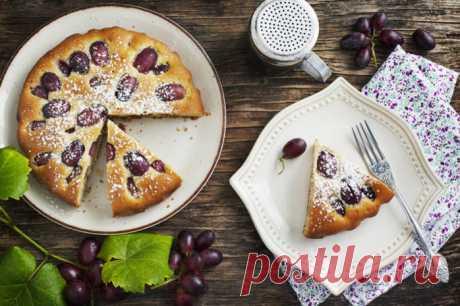 Пирог с яблоками и виноградом: вкусный десерт на скорую руку - kolobok.ua