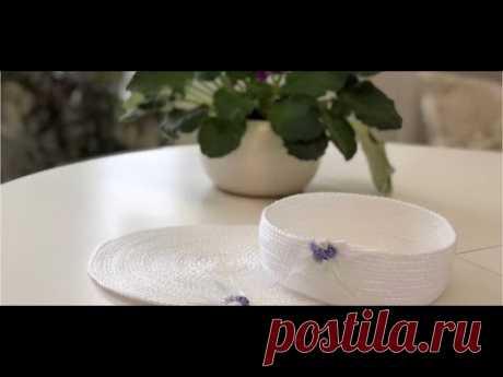 Быстрые подарки на 8 Марта: корзинка из шнура и полос ткани, коврик, очечник, косметичка, сумочка