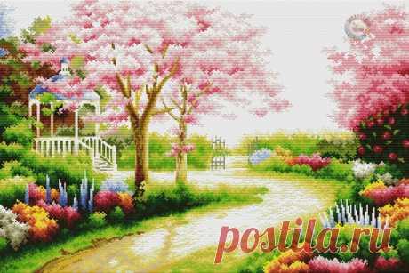 Весенний сад Схема